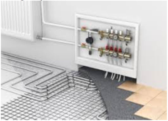 underfloor water heating system