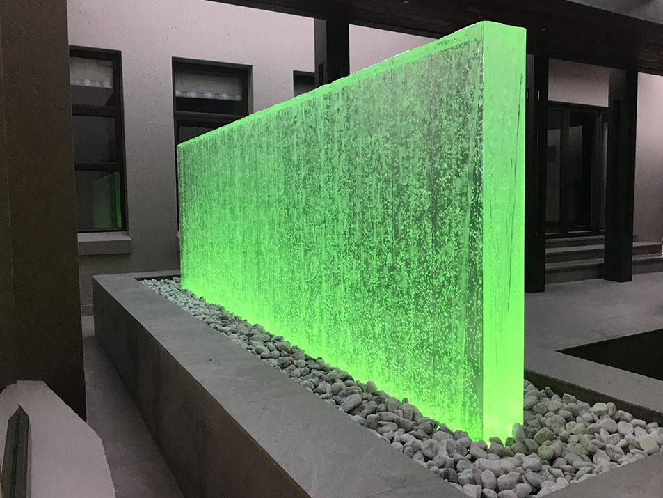Bubble wall green LED